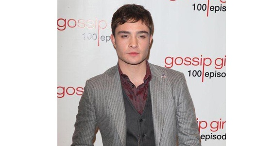 Ed Westwick channels his inner Chuck Bass with a suave, designer suit at the Gossip Girl 100th episode party.