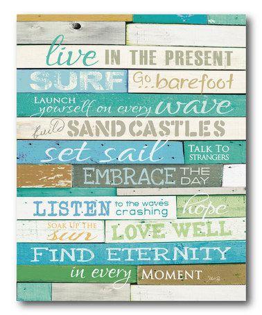 Look at this #zulilyfind! 'Live in the Present' Wrapped Canvas #zulilyfinds