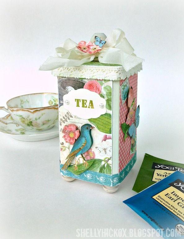 **Cover Real Tea Tins** Stamptramp: Eileen Hull's Vintage Kitchen Sneak Peek!