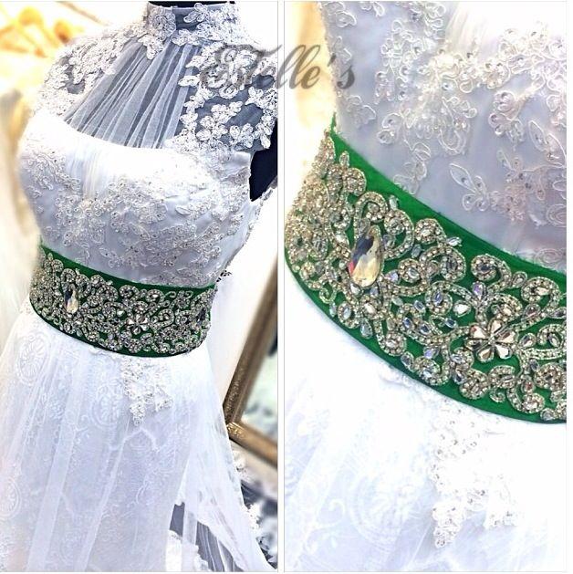 Afghan bridal kamarband made by ArosiDecor. Instagram ArosiDecor