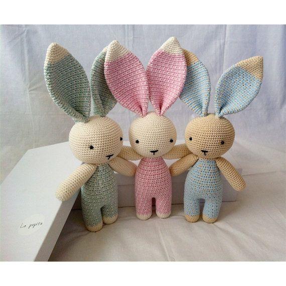 Amigurumi schattige Bunny roze van lapepitababy op Etsy