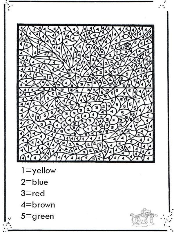 Free Printable Color By Number Coloring Pages For Adults Color Coloring Books Coloring Pages Math Coloring Worksheets
