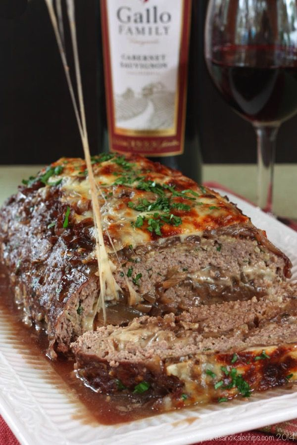 French Onion Soup Au Gratin Stuffed Meatloaf When the cheese is that gooey, you know it's good.  Get the recipe from Cupcakes and Kale Chips.