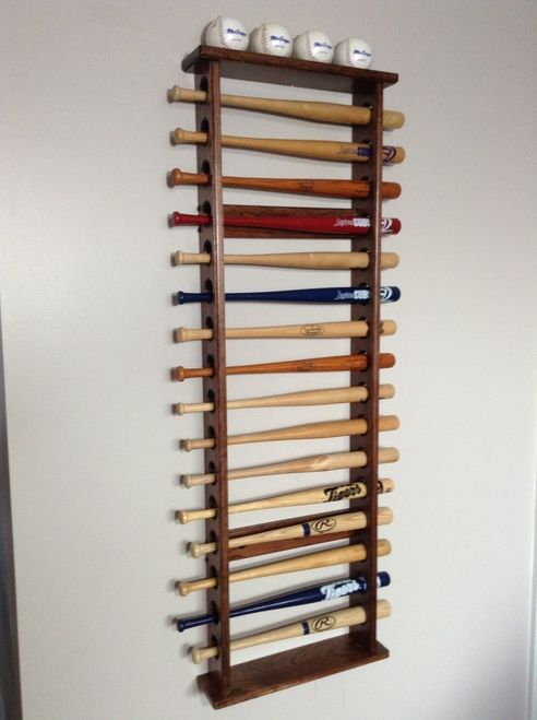 mini bat rack for my sons mini bat collection
