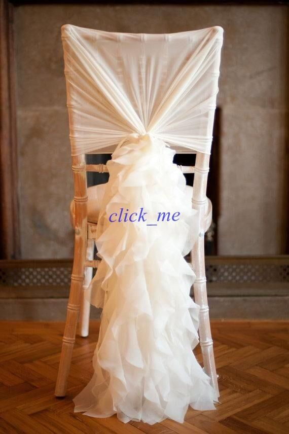 Chair Covers For Weddings Pinterest Samsonite Chairs Uk 13 Best Chaircover Images On Decorated Covering Fashiontaffeta Without Champagne Ribbon Seqined Organza Most Popular Wedding Favors Sashes Decorations
