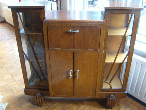 Vintage 30 s Oak Art Deco Furniture Glass Fronted Display Drink Cabinet - 14 Best Drinks Cabinets Images On Pinterest Bar Hutch, Drinks