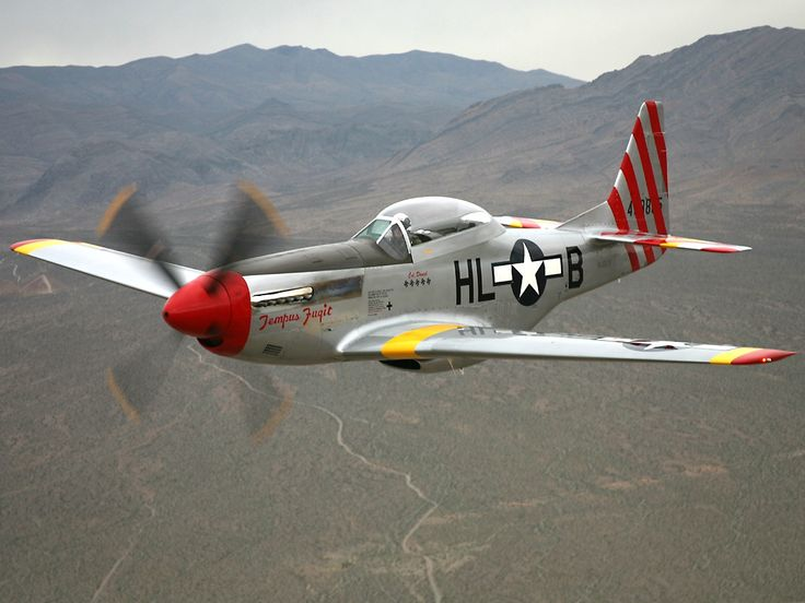 North American P-51D Mustang with Rolls Royce Merlin engine.
