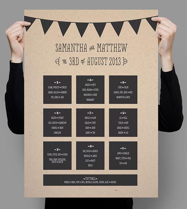 seating plan on tri fold poster...