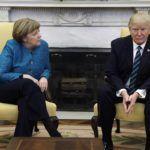 Linguaggio+del+corpo:+Trump+e+Merkel+a+duello