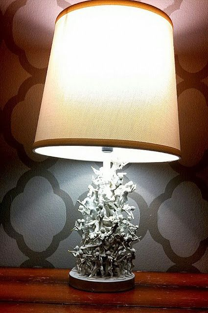 DIY Army Men Lamp- SO easy and cheap!