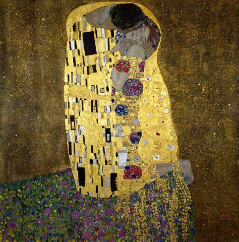 Gustav Klimt - Der Kuß - jetzt bestellen auf kunst-fuer-alle.de