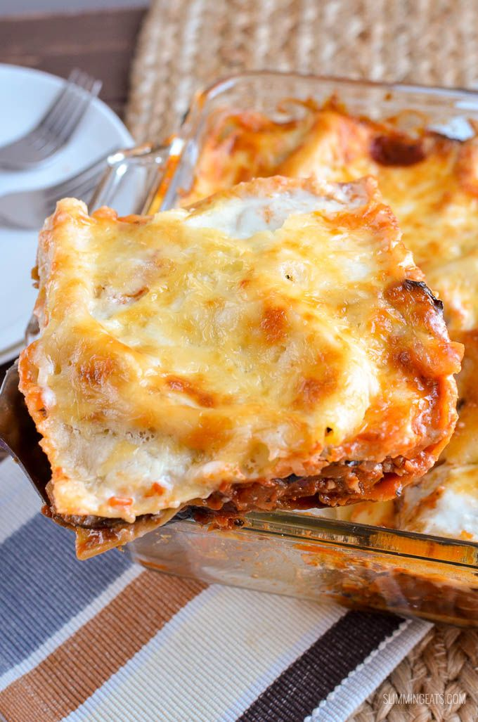 Slimming Eats Low Syn (Eggplant) Aubergine Lasagne - gluten free, vegetarian, Slimming World and Weight Watchers friendly