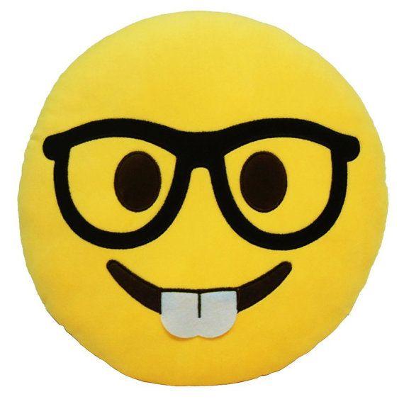 Customized Nerd Emoji Pillow by CustomizedByBilgin on Etsy