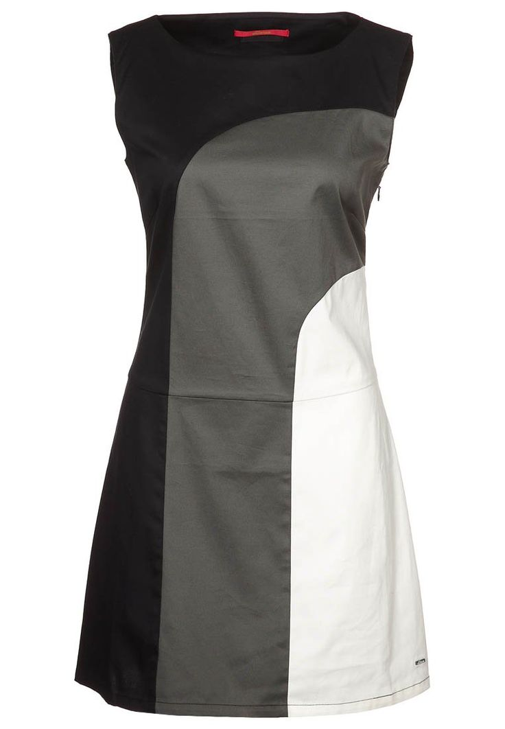 Skunkfunk Colourblock Shift dress - black