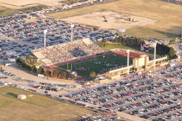 Ratliff Stadium in Odessa, TX seats 19,302 and is the home of Odessa High School and the storied Permian High School football teams.