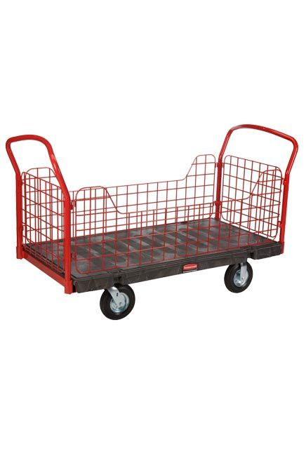 """Side Panel Handling Truck 30"""" X 60"""": Working cart 30"""" X 60"""" with side panel cut outs"""