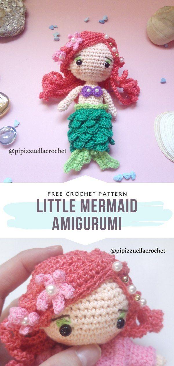 Crochet Purrmaid Mermaid Cat - FREE amigurumi mercat pattern ... | 1260x600