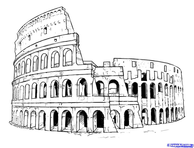 How to Draw the Colosseum, Step by Step, Famous Places, Landmarks & Places, FREE Online Drawing Tutorial, Added by KingTutorial, October 4, 2010, 5:24:55 pm