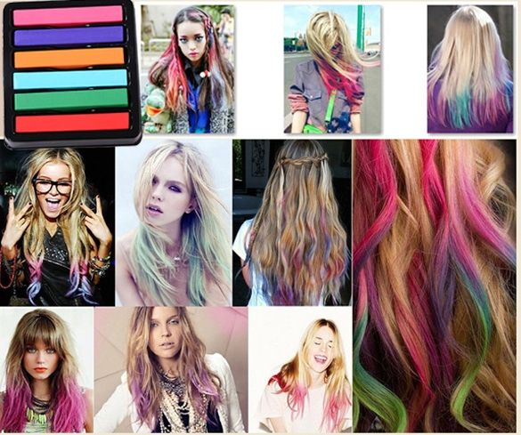 Non-toxic Temporary Salon Kit DIY Colorful Hair Chalk Dye Pastel
