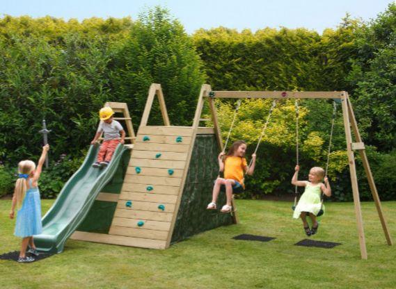 Fancy Climbing frame swing set garden swing climbing frame slide