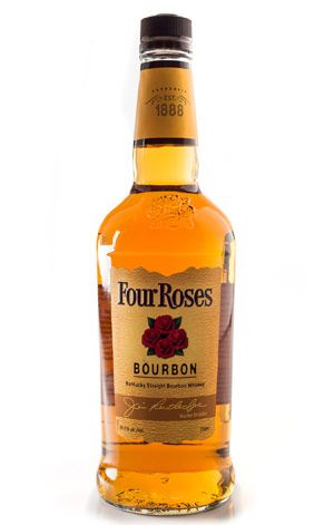 """Four Roses Bourbon- what Bon Appétit recommends for cooking. Smooth,affordable and widely available. """"Four Roses Yellow Label is the bourbon we cook with in the BA Test Kitchen"""". Don't use top-shelf bourbon for cooking. Stock your pantry with a bourbon that's good enough to sip on but not so good that you'll weep when it reduces by half in your soup. It's in the middle"""