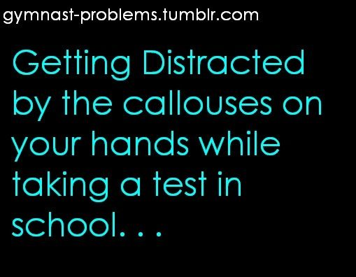 gymnast problems- I thought I was the only one who did this!!
