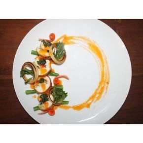 Foodstar shared by Risti D.O //Chicken Roulade Spinach Onion Carrot Bean Sweet tomato Sauce.  #chef #chefsofinstagram #cheflife #cook #cooking #eeeeeats #finedining #foodart #foodphotographer #foodie #foodporn #kitchen #homecook #theartofplating  #expertfoods #foodplating by ristidwi_octasari