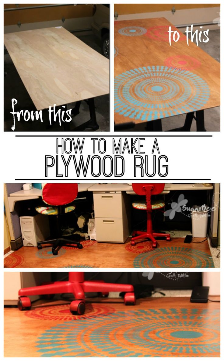 Plywood Rug ~ Sugar Bee Crafts
