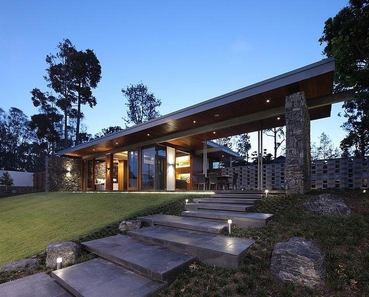 Located in Brisbane, Australia, Shaun Lockyer Architects recently designed this modern single family residence.