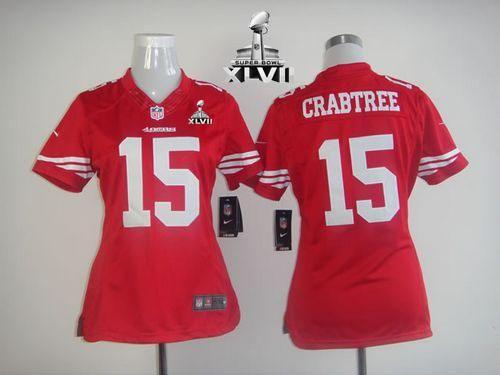 on sale b96d5 bbf3b hot nike san francisco 49ers 15 michael crabtree game red ...