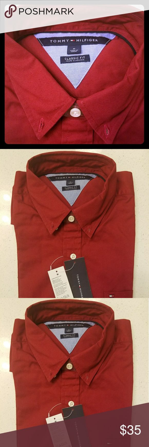 TOMMY HILFIGER mens classic fit shirt NEW New Tommy Hilfiger Shirts Dress Shirts