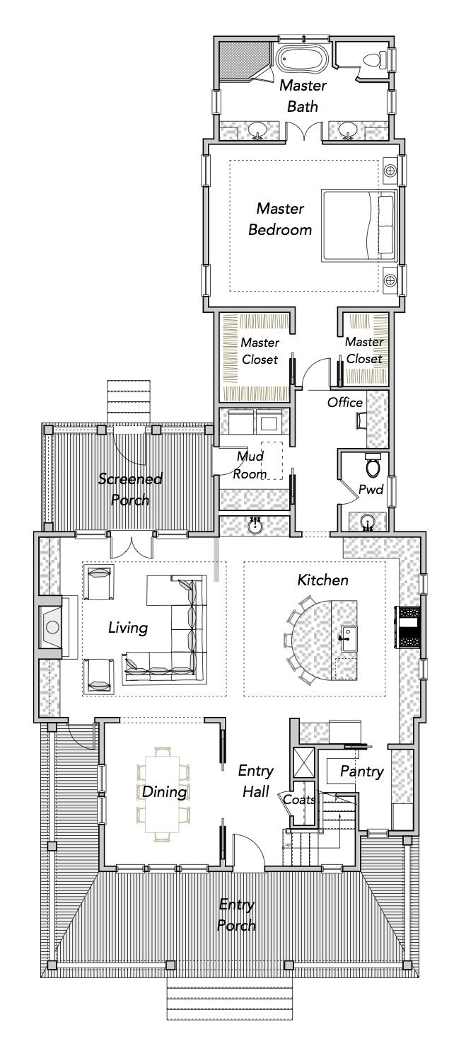 Best 25 narrow house plans ideas on pinterest for Narrow house design