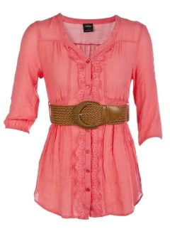 Maybe instead of a dress, do this coral shirt ($32.80), white shorts, and cheetah pumps?