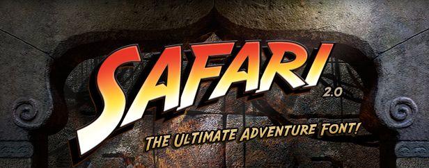 Indiana Jones font - Safari font by David Occhino Design - The Ultimate Adventure Font