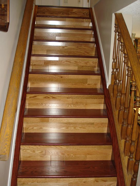 Two Toned Hardwood Stairs Hardwood Floors Pinterest