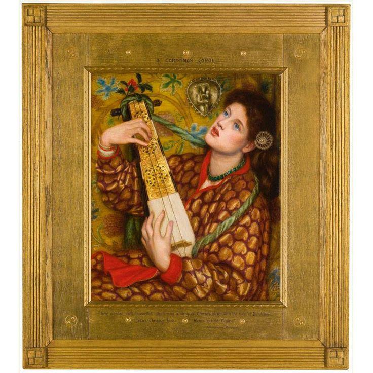 Um conto de Natal (1867) -  Dante Gabriel Rossetti - Walker Art Gallery   O outro Conto de Natal de Rossetti veio para a ribalta novamente pouco mais de um ano atrás, quando foi vendido em um leilão na Sotheby.  Na década de 1860 Rossetti se afastou de aquarelas medievalistas para pintar seus retratos opulentos de metade do corpo de mulheres luxuriantes - aqui uma lavadeira chamada Ellen Smith, descoberta por Rossetti em 1863.  Ainda assim, como a pintura anterior,  o acoplamento da música e…