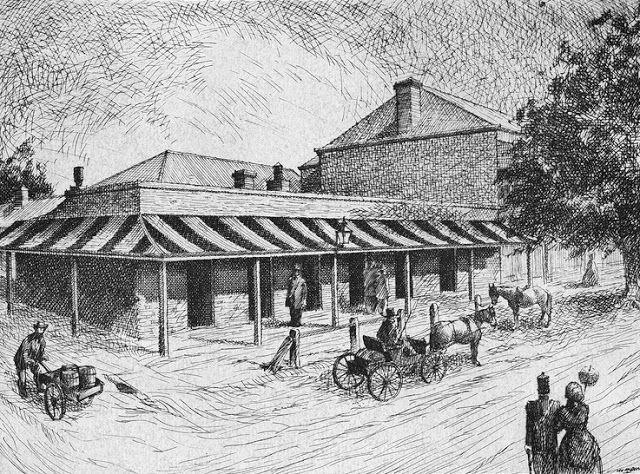 Commercial Hotel - Grenfell Street Adelaide c1885 - South Australia