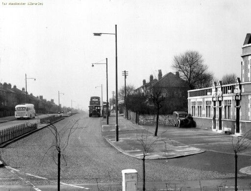Lightbowne Road The Gardeners Arms Pub on the Right 1959, Moston.