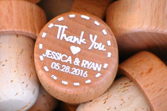 Wedding Favors Personalized Wooden Wine Stopper by UrbanLoftTampa