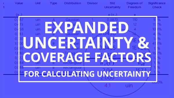 Expanded Uncertainty and Coverage Factors for calculating measurement uncertainty. Learn everything that you need to know about calculating expanded uncertainty.