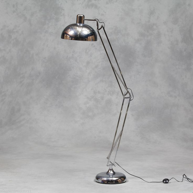 Charming Extra Large Classic Desk Style Floor Lamp In Chrome : Beau Decor. Find This  Pin And More On Glebe Decorative Home ...