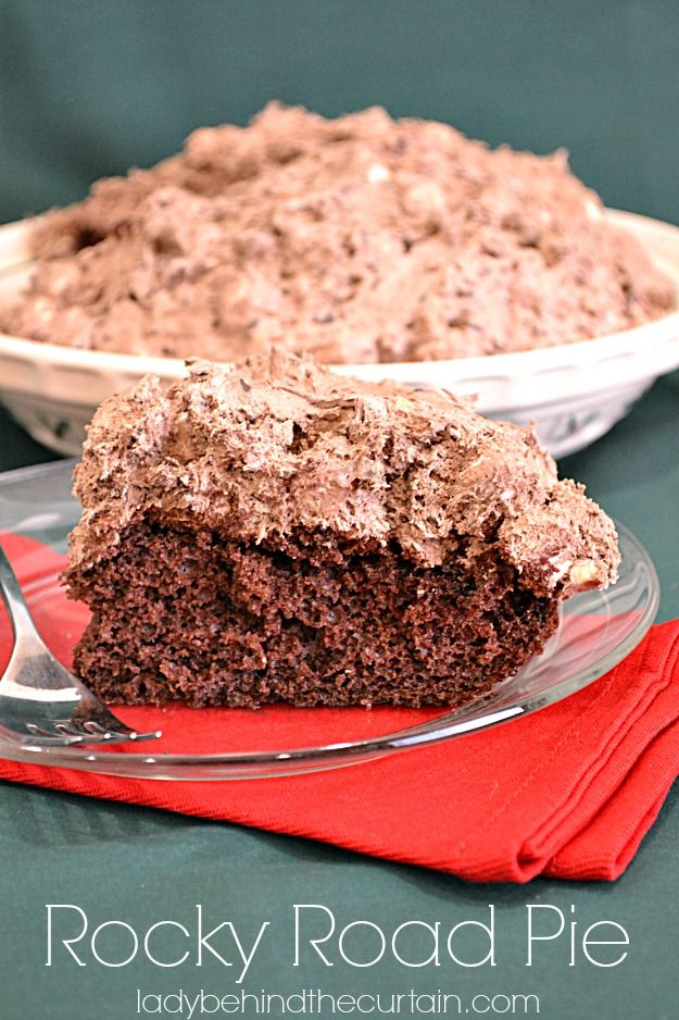 Another fabulous creation with mousse. ROCKY ROAD PIE