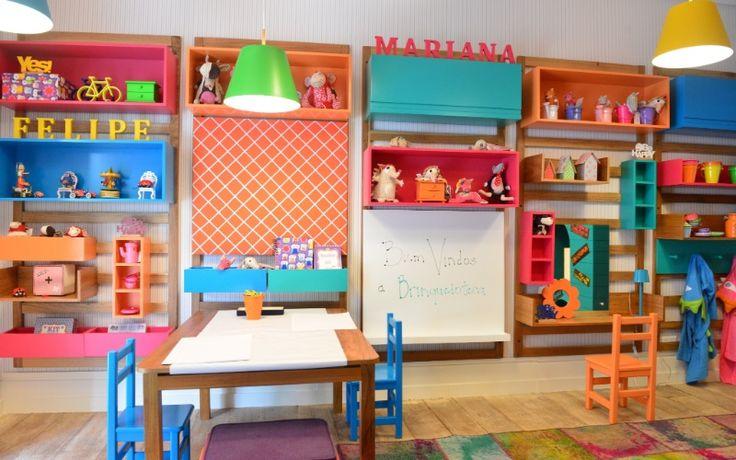 O quarto brinquedoteca foi o projeto concebido por Carmen Mansor, Fernando Azevedo e Tiza Kann, da Mak Interiores, para a Mostra Q.