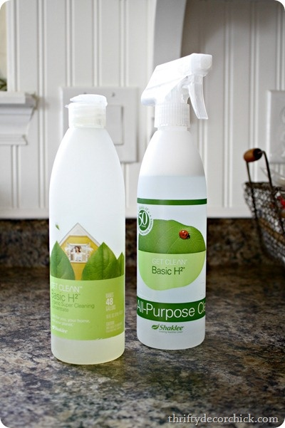 I was hesitant to try these products at first because I assumed they would be so expensive, but I can't stress to you enough how long the basics last – I've had this bottle of concentrate for years now. And every time I say that I wonder if people think I clean my house – I do. Sometimes. Seriously, you just need a 1/4 teaspoon to mix up a whole bottle and it lasts forEVA.