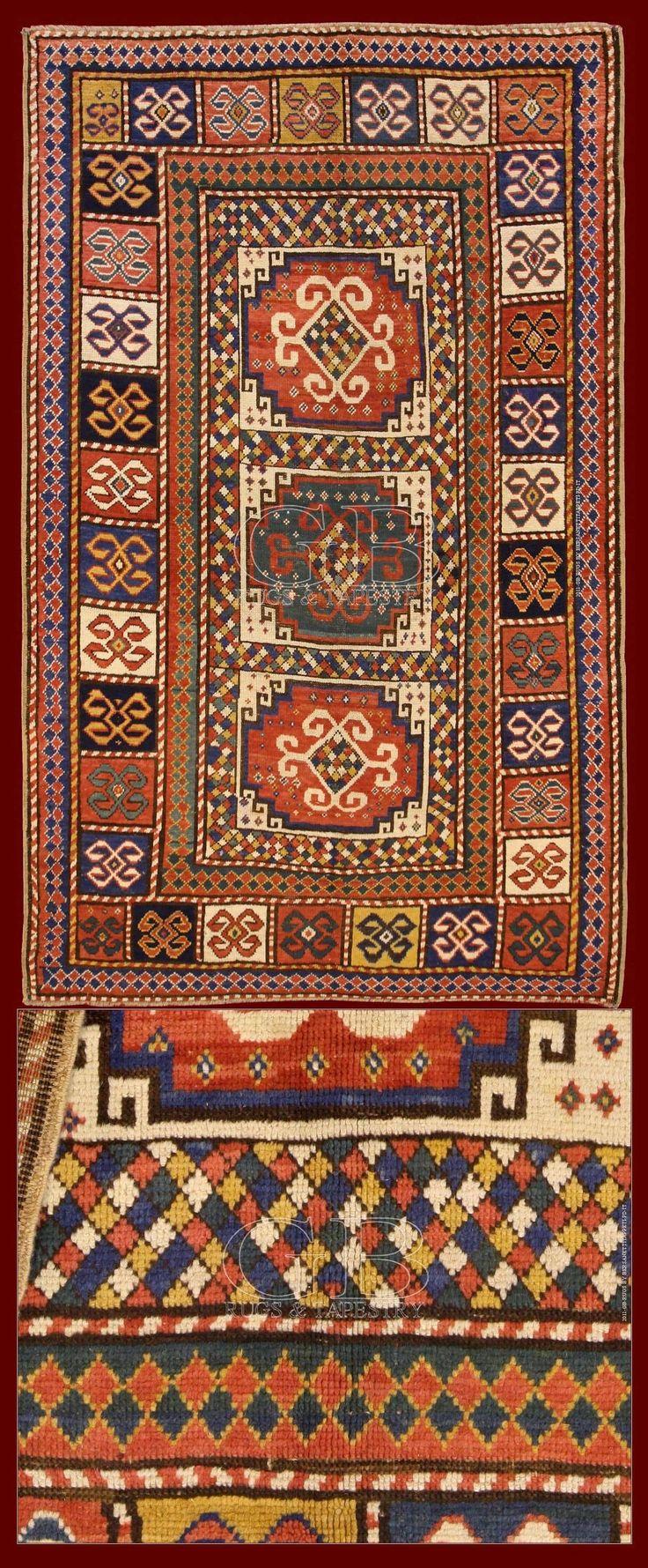 Antique Moghan Rug Caucasus 230 X 140 Cm 7 55 4 59 Ft Cod
