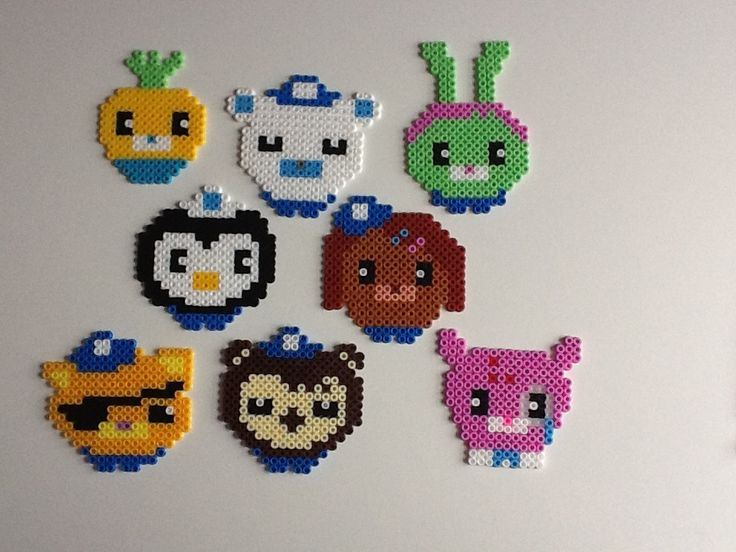 The Octonauts hama beads by Raydant - can use for granny crochet project