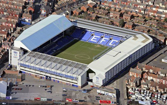 Home of the mighty Everton FC. Goodison park - One of my favourite away grounds which oozes history