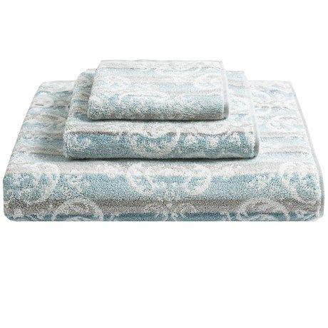Kassadecor Damask Stripe Cotton Bath Towel Runner Rugs