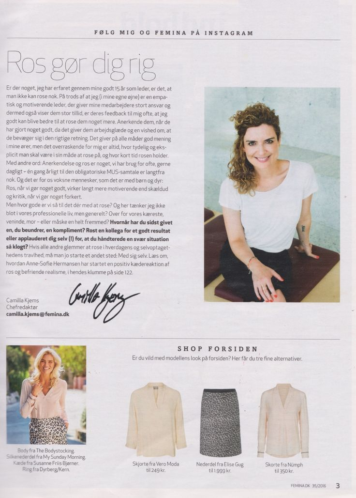Our Leopard skirt featured in Danish magazine Femina, week 35.