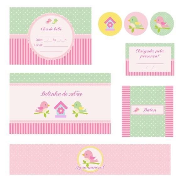 Kit para imprimir editável Passarinhos